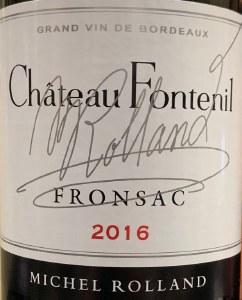 Chateau Fontenil Fronsac Rouge 2016 (750ml)