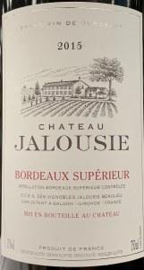 Chateau Jalousie Bordeaux Superiore 2015 (750ml)