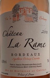 Chateau La Rame Bordeaux Rose 2018 (750ml)