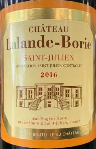 Chateau Lalande Borie Saint Julien 2016 (750ml)