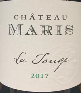 Chateau Maris Minervois La Touge 2017 (750ML)