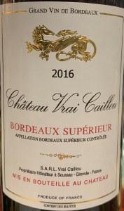 Chateau Vrai Caillou Bordeaux Superieur Rouge 2018 (750ml)