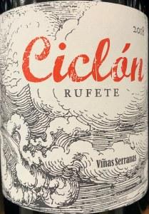 Vinas Serranas Ciclon Rufete Castilla y Leon 2018 (750ml)