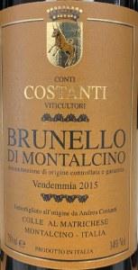 Conti Costanti Brunello di Montalcino 2015 (375ML)