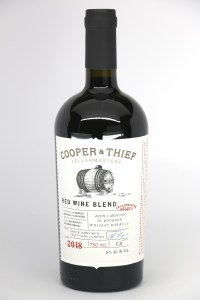 Cooper & Thief Red Wine aged 3 months in Bourbon Whiskey Barrels .750L
