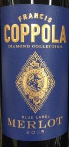 "Coppola Merlot ""Diamond Collection"" Napa Valley 2015 (750ML)"