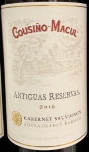 "Cousino Macul Antiguas ""Reserva"" Maipo Valley Cabernet Sauvignon 2017 (750ML)"