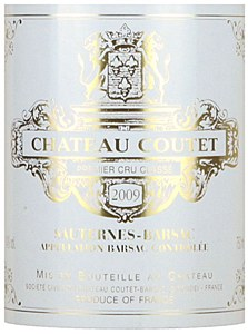 Chateau Coutet Sauternes Blend, Barsac 2009 (750ML)