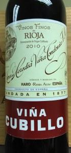 Lopez de Heredia Rioja Crianza Vina Cubillo 2010 (750ML)