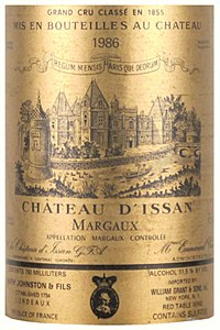 Chateau D'Issan Margaux 1986 (750ML)