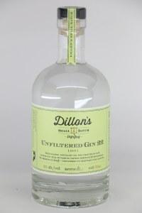 Dillon's Unfiltered Gin 22 smalll batch distillers .750L
