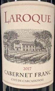 Domaine Laroque Cite de Carcassonne IGP Cabernet Franc 2018 (750ml)