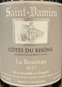 Domaine Saint Damien La Bouveau Cotes du Rhone 2017 (750ml)