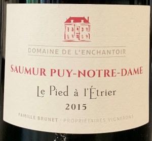 Domaine de L'Enchantoir 'Le Pied a l'Etrier' Saumur Puy Notre Dame 2017 (750ml)