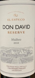 Bodega El Esteco Malbec Calchaqui Valley Don David Reserve 2019 (750ml)