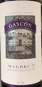 Don Miguel Gascon 'Gascon' Malbec Mendoza  2017 (750ML)