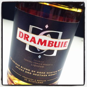 Drambuie Scotch Whisky and Honey Herbs and Spices.
