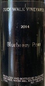 """Duck Walk """"Water Mill Blueberry Port"""" Long Island Sweet 2014 (375ML)"""