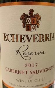 Echeverria Cabernet Sauvignon Reserva 2018 (750ml)