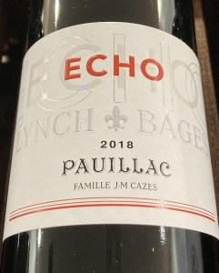 Echo de Lynch Bages Pauillac 2018 (750ML)