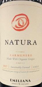 "Emiliana ""Natura"" Colchagua Valley Organic Carmenere 2018 (750ML)"