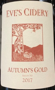 Eve's Autumn's Gold Dry Cider 2019 (750ML)