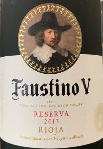Faustino V Reserva Rioja 2013 (750ml)