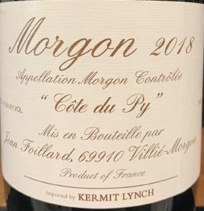 Jean Foillard Cote du Py Morgon Cru Beaujolais 2018 (750ML)
