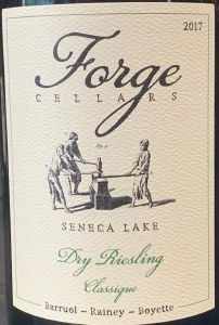 Forge Cellars Dry Riesling Classique Finger Lakes 2019 (750ml)