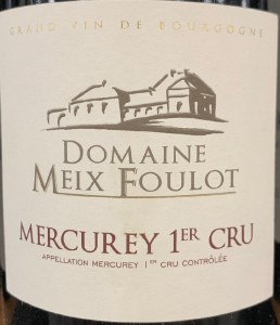 Domaine Meix Foulot Mercurey 1er Cru Rouge 2013 (750ml)