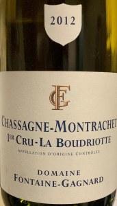Fontaine-Gagnard Chassagne-Montrachet 1er Cru 'La Boudriotte' 2012 (750ML)