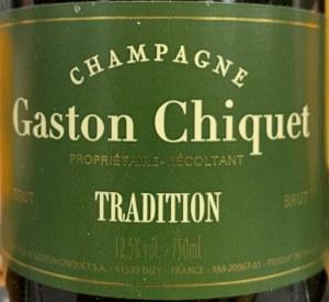 Gaston Chiquet Champagne Brut Tradition Champagne, NV (750ML)