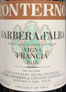 Giacomo Conterno Vigna Francia Barbera d'Alba 2018 (750ml)