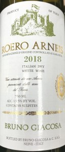 Bruno Giacosa Roero Arneis Piedmont  2019 (750ML)