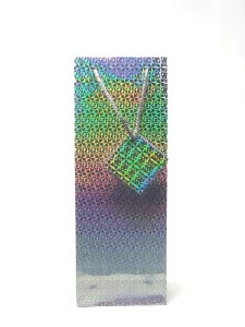 Gift Bag 1 Bottle Holographic Silver