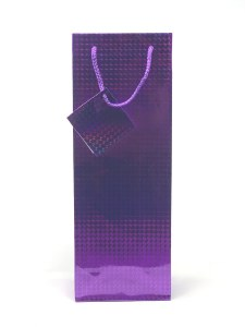 Gift Bag 1 Bottle Holographic Purple