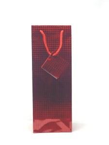 Gift Bag 1 Bottle Holographic Red