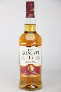 Glenlivet 15 Year Old French Oak Reserve Single Malt Scotch Whiskey, Speyside (750ML)