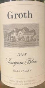 Groth Sauvignon Blanc Napa Valley 2018