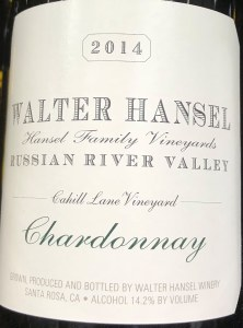 Walter Hansel Cahill Lane Russian River Valley Chardonnay 2016 (750ml)