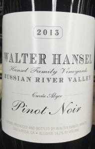 Walter Hansel 'Cuvee Alyce' Russian River Valley Pinot Noir 2018 (750ml)
