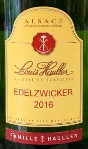 Louis Haller Edelzwicker Alsace 2016 Liter