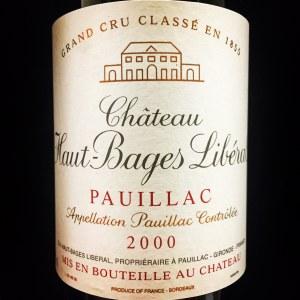 Chateau Haut-Bages Liberal Pauillac 2000 (750ml)