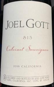 Joel Gott '815' Cabernet Sauvignon California 2017 (750ml)