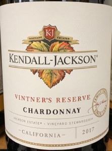 Kendall Jackson 'Vintner's Reserve'  Chardonnay California 2017 (750ml)