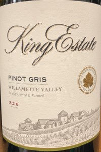 King Estate Pinot Gris Willamette Valley 2017 (750ml)