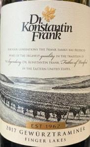 Dr. Konstantin Frank Gewurztraminer Finger Lakes 2019