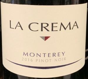 La Crema Pinot Noir Monterey 2017-  (750ML)