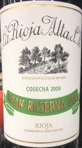 La Rioja Alta '904' Gran Reserva Rioja 2009 (1.5L)  95+pts WA