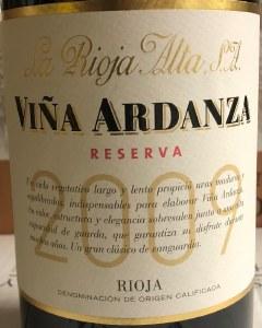 La Rioja Alta 'Ardanza' Reserva Rioja 2009 (750ML)
